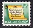 Tokelau MNH Scott #18 History Of Tokelau - 15c Scroll - Administration Transferred To New Zealand - Tokelau