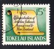 Tokelau Used Scott #18 History Of Tokelau - 15c Scroll - Administration Transferred To New Zealand - Tokelau