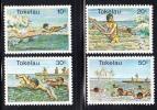 Tokelau MNH Scott #73-#76 Surfing, Swimming - Tokelau