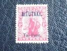 Aitutaki Stamp #2 Mint OG LH VF Short T Error - Aitutaki
