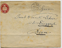 SWITZERLAND 1880 10c Stationery Envelope Turg? To Bern Imprint - Ganzsachen