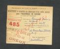 A/. MILITARIA 39 / 45 / RECIPISSE COLIS POSTAL POUR PRISONNIER / STALAG ALLEMAGNE / S.N.C.F. DEPART GARE DE DREUX .  . - 1939-45