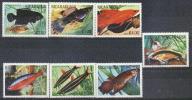 Nicaragua 1981 YT 1160 A-E ** PECES: FISHES - Nicaragua