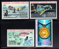 Turks & Caicos MNH Scott #246-#249 10th Anniversary 1st Orbital Flight By Glenn - Turks & Caicos