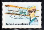 Turks & Caicos MNH Scott #352 $2 Wright Biplane - Aviation Progress - Turks & Caicos (I. Turques Et Caïques)
