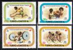 Turks & Caicos MNH Scott #355-#358 11th Commonwealth Games, Edmonton, Alberta, Canada - Turks & Caicos (I. Turques Et Caïques)