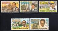 Turks & Caicos MNH Scott #457-#461 Human Rights Leaders - Turks & Caicos (I. Turques Et Caïques)