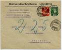 SWITZERLAND 1917 Envelope Lutzelflum-Coldbach Nachnahme (10c D - Schweiz