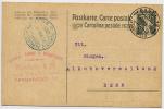 SWITZERLAND 1918 7.5c Card With Alkoholverwaltung Cancel Basel - Postmark Collection