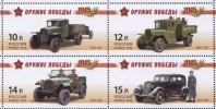Russia, 2012,  WW II, Military Cars, 4 V ** - Nuevos