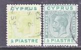 Cyprus 91 X 2  Shades  (o)  Wmk 4  Script CA - Cyprus (...-1960)