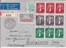 Nr 344/346, 348/350, 352/354 Op Reco Brief Naar Java, Nederlands Indië (X14207) - Zusammendrucke