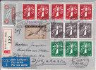 Nr 344/346, 348/350, 352/354 Op Reco Brief Naar Java, Nederlands Indië (X14218) - Zusammendrucke