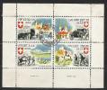 SWITZERLAND / SUIZA  .-. MILITARY STAMP .  USED BLOCK  .-. VPF. KP.  9  LW  1939  / - Vignettes