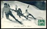 """CPA.   Sports D'Hiver. Skieurs. Un """" Télémark """". - Sports D'hiver"""