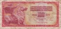 Billet - B442.6 - Yougoslavie  (nature Et état Voir 2 Scans RV) - Yugoslavia