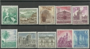 ESPAÑA- EDIFIL Nº 1726/1735 ** SIN FIJASELLOS - 1961-70 Nuevos & Fijasellos