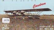 Télécarte Japon * AVION (1517) CAUDROU  *  AIRLINES * AIRPORT * AIRPLANE *  PHONECARD * JAPAN * FLUGZEUG * VLIEGTUIG - Airplanes