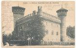 Italy Postcard Il Castello Medioevale Visto Dal Valentino Sent To Denmark Torino 7-6-1904 - Castello Del Valentino