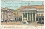 Italy Postcard Genova Teatro Carlo Felice E Monumento Garibaldi Sent To Denmark Genova 10-12-1903 - Genova (Genoa)