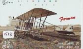 Télécarte Japon * AVION (1518) FARMAN  *  AIRLINES * AIRPORT * AIRPLANE *  PHONECARD * JAPAN * FLUGZEUG * VLIEGTUIG - Airplanes