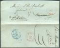 LAC De GAND Le 14 Mai 1842 Vers Bruxelles (biffé) (+ Au Verso : DEBOURSE BRUXELLES En Bleu), Réexpédiée Vers Lokeren - 7 - 1830-1849 (Belgique Indépendante)