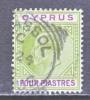 Cyprus 54   (o)  Wmk 3  Multi CA - Cyprus (...-1960)