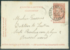EP Carte-lettre 10 Centime Fine Barbe Obl. Sc CORTENBERG Du 10 Novembre 1898 Vers Bruxelles - 7699 - Postbladen
