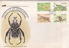 Zimbabwe.......:   Zimbabwe 1988 Insects FDC - Zimbabwe (1980-...)