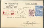 Carte En Recommandé De L´agence De HUY 11 * Le 18-1-1950 Vers Huccorgne - Renvoi Huy 1 - 7706 - Postmark Collection