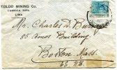 "Peru- Cover Posted From ""Toldo Mining""Co./ Lima [canc.9.5.1916] To Boston/ Massachusetts-USA - Peru"