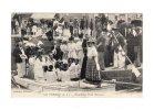 LOIRE ATLANTIQUE 44 - LE CROISIC - BAPTEME D´UN BATEAU TRES ANIME -1909 -  Vélo Parapluie Ombrelle Prêtre Enfants - Bateaux