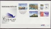Nederlandse Antillen, 1999, History Of Curacao, Plane, Ship, Stamp, E304, FDC - Antillen