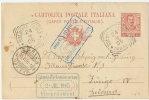 Intero Postale Cartolina 1905 ( Marche Diverse) Da SOLBIATE OLONA (Milano) In Svizzera - Ganzsachen