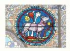 Cp, Signe Du Zodiaque, Taureau - Détail D´un Vitrail De La Cathédrale De Chartres - Astronomy