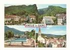 Cp, 66, Amélie-les-Bains, Multi-Vues, Voyagée - Francia