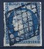 """YT 4 """" Cérès 25c. Bleu """" 1850  Grille De 1849 - 1849-1850 Ceres"""