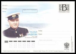 RUSSIA 2010 ENTIER POSTCARD 200/1 Mint BADIGIN ARCTIC CAPTAIN POLAR NORD EXPLORER CAPITAINE SOVIET HERO SEDOV MASTER - Explorateurs & Célébrités Polaires