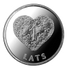 New LatviaLetland  / Lettonia  2011 Christmas Heart Gingerbread Coin 1 Lats UNC - Letonia