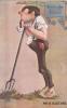 Procrastinator Leaning On Rake With Pipe In Mouth, Heidelberg Inn, San Francisco, California, PU-1914 - San Francisco