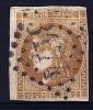 """Yt 43B """" Cérès Report 2 10c. Bistre-jaune  """" 1870 Losange GC  3174 - 1870 Bordeaux Printing"""