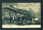 SWITZERLAND  -  1907  Alpine Scene  Used Postcard As Scans - GR Graubünden