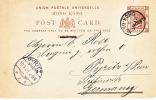 Hong Kong Postal Card To Germany 1901  (o) - Hong Kong (...-1997)