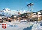 74 -H.Savoie- MEGEVE ,Téléphérique De Rochebrune Et Au Fond;l´Aiguille De Warens - Megève