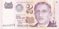 BILLETE DE SINGAPORE DE $2   (BANKNOTE) - Singapour