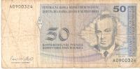 BILLETE DE BOSNIA HERZEGOVINA DE 50 CONVERTIBLE MARKA (BANK NOTE) - Bosnia Y Herzegovina