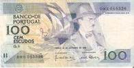 BILLETE DE PORTUGAL DE 100 ESCUDOS  DEL AÑO 1988 SERIE DMK (BANKNOTE-BANK NOTE) - Portugal