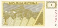 BILLETE DE ESLOVENIA DE 1 ENA  SIN CIRCULAR   (BANKNOTE) - Slovénie
