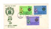 64699)lettera F.d.c. Pilipinas Serie College Of Pharmacy Con 3 Valori + Annullo - Filippine