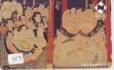 Télécarte  Japon * SUMO (357) LUTTE  LUTTEURS WORSTELEN * JUDO * Kampf Wrestling *  LUCHA * PHONECARD JAPAN - Sport